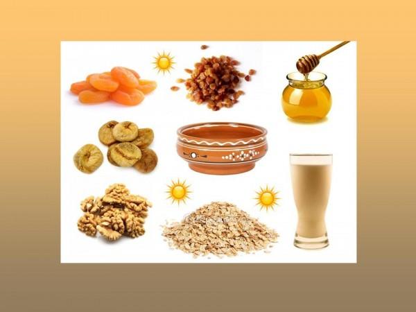 Правильное питание. Геркулес, сухофрукты, орехи, мед