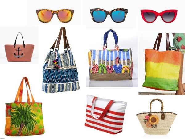 Пляжные сумки. Солнечные очки