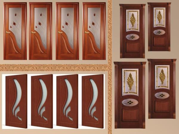 Двери межкомнатные со сложным дизайном