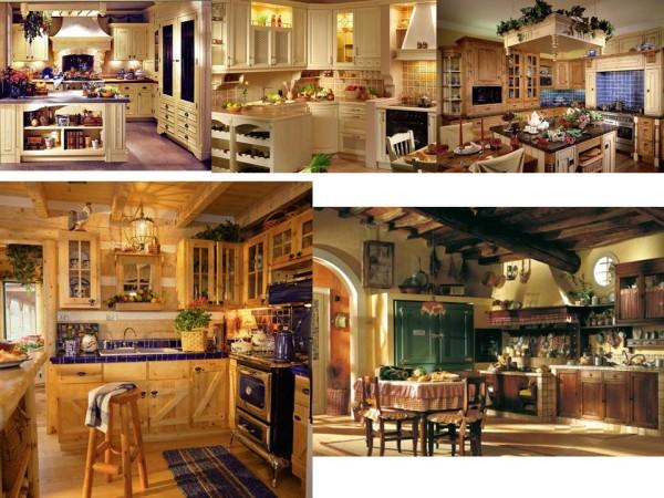 кухня, стиль кантри