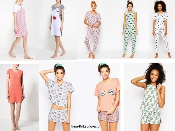Ночные рубашки и пижамы