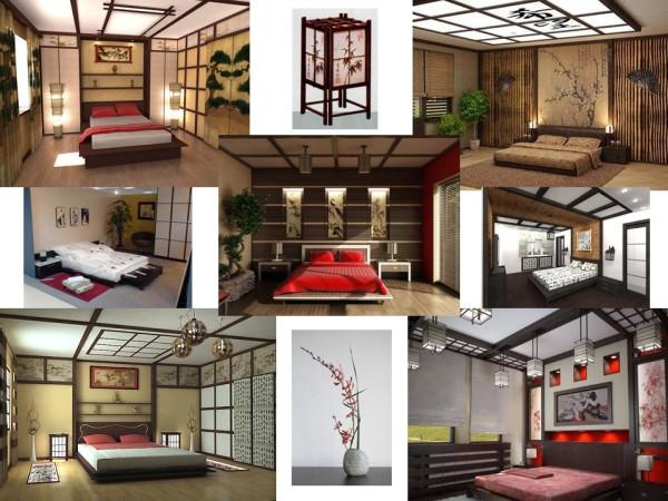 Спальня, стиль Япония