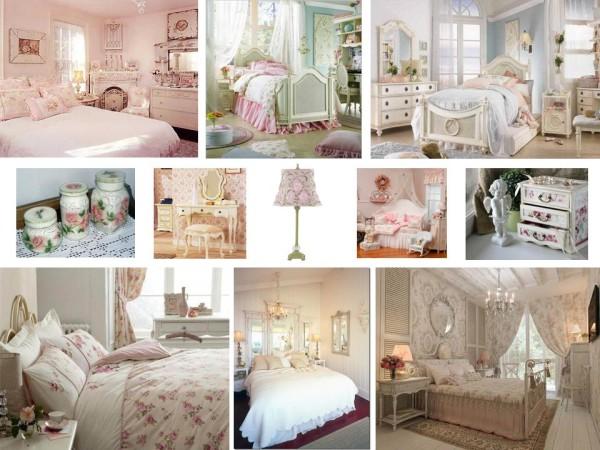 Спальня, стиль шебби шик