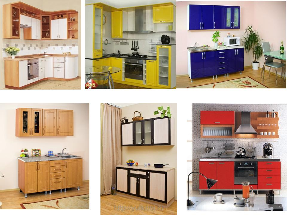 Маленькая кухня, мебельные мини-гарнитуры