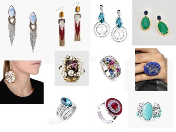 Серьги и кольца мода 2015