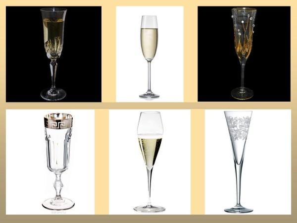 Бокалы для шампанского и игристых вин