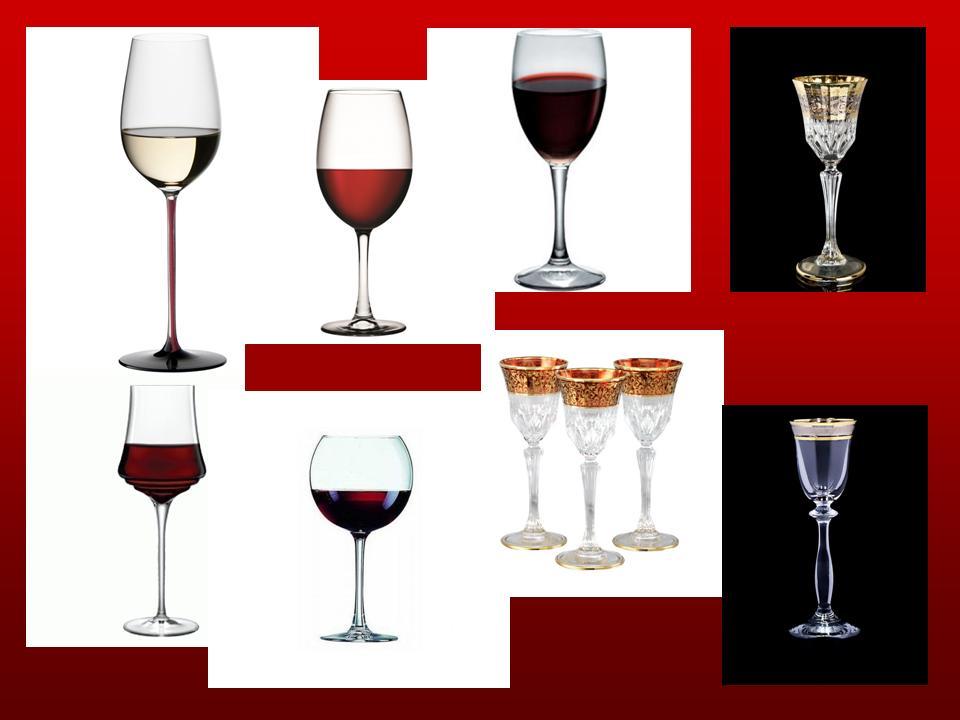 Бокалы для вина и ликерные рюмки