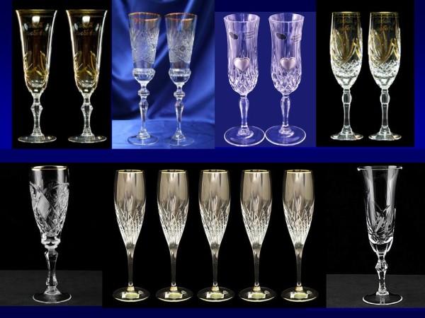 Бокалы для вина и шампанского, хрусталь