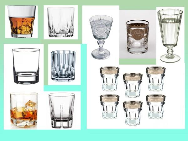 Стаканчики для виски и рюмки для водки