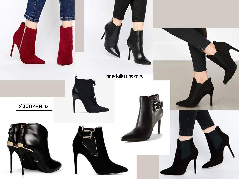 Ботинки на высоких каблуках, черные