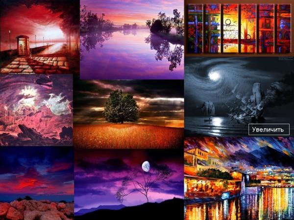 Картины. Неблагоприятные цвета для дома