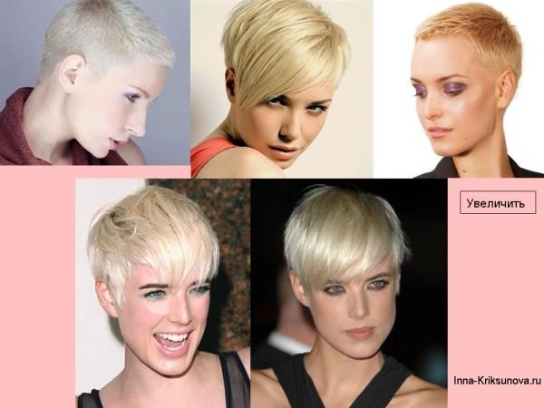 Короткие стрижки для блондинок 2016