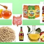 Продукты для стула: яблочный уксус, мед, отруби