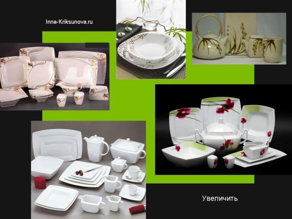 Посуда, японский стиль, белая