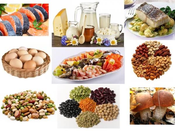 белковые продукты для похудения список меню