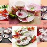 Посуда Люминарк, цветочные узоры
