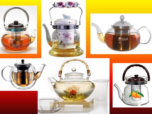 Заварочные чайники прозрачные