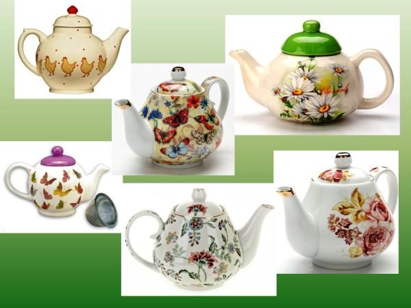 Заварочные чайники с рисунком