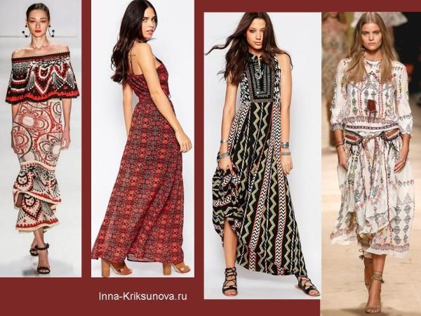 Этнический стиль. Платья