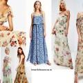 Длинные летние платья 2016, цветочный принт