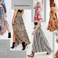 Длинные юбки 2016, крупный принт