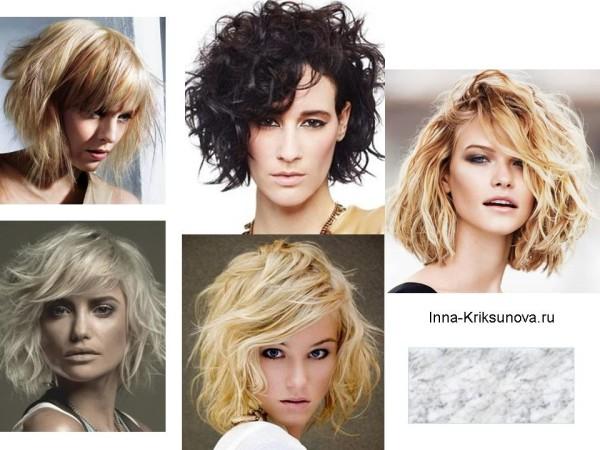 Прически, гранж 2016, средние волосы