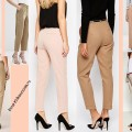 Женские летние брюки 2016, бежевые