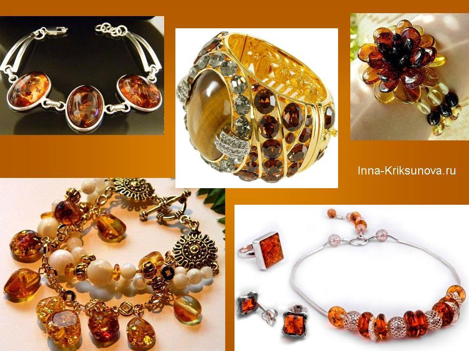 Колье и браслеты из янтаря