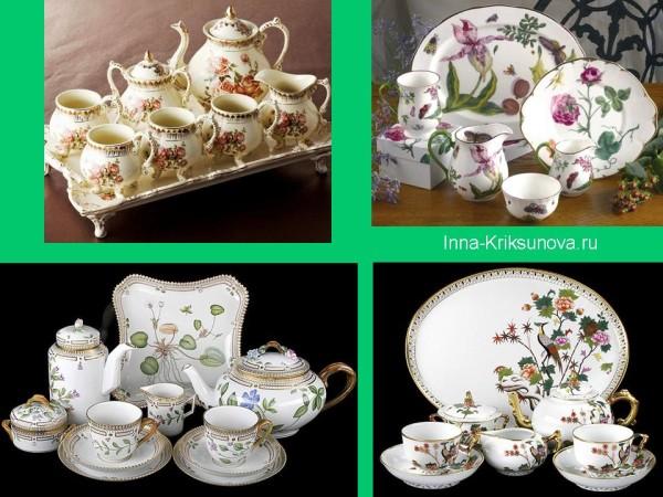 Посуда, английский стиль, цветы