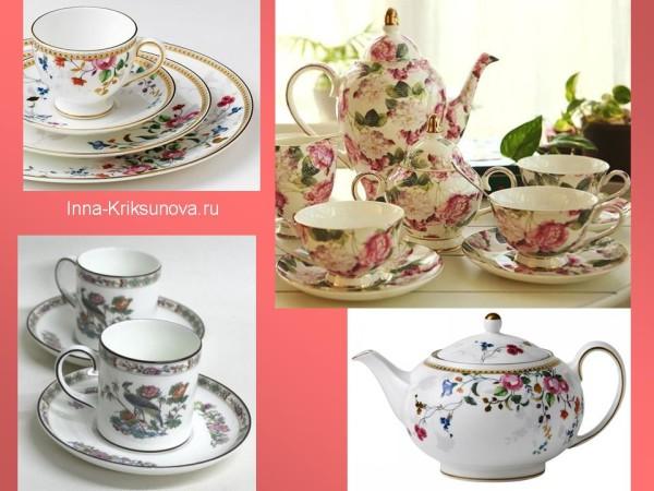 Посуда, английский стиль, рисунок с цветами