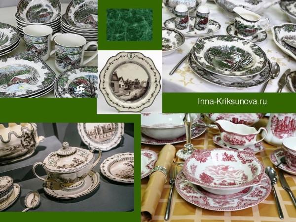 Посуда, английский стиль, сценки из жизни