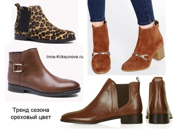 Женские ботинки осень 2016, коричневые