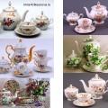 Посуда с цветочным рисунком: чайные сервизы