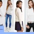 Белые свитеры с ажуром, сезон 2016