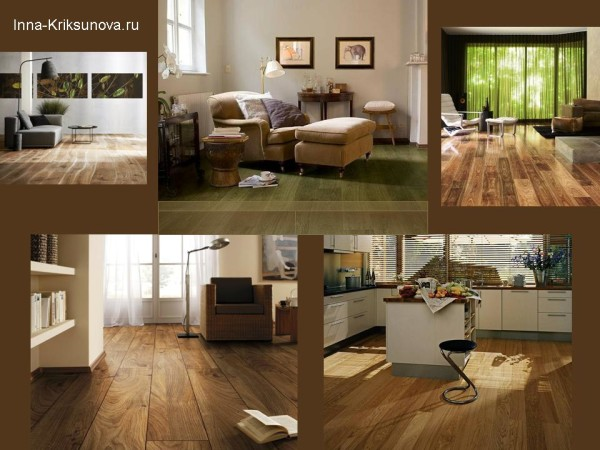 Дизайн интерьера. Выбираем средне-коричневый пол