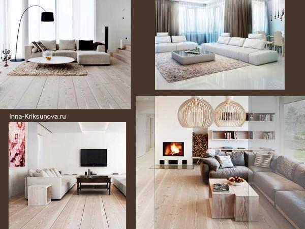 Дизайн интерьера. Оформляем светлый пол