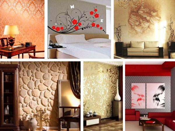 Дизайн стен, разновидности