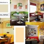 Кухонные уголки, яркие