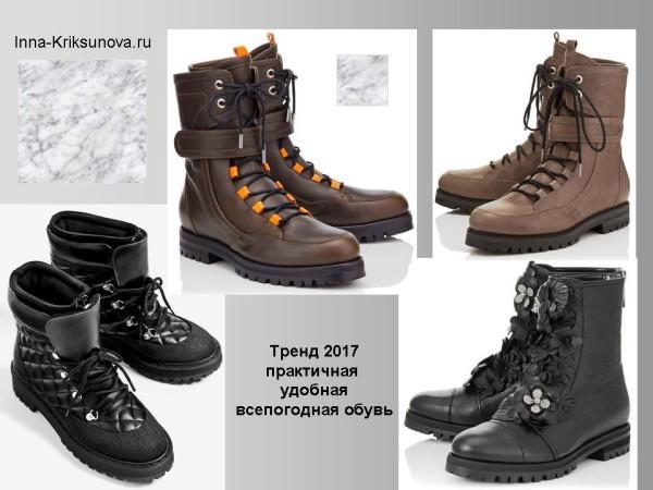 Зимние ботинки 2017, практичный стиль