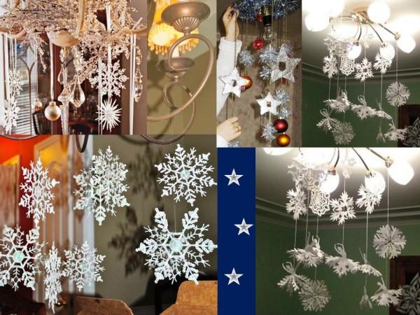 Новогодние украшения, снежинки