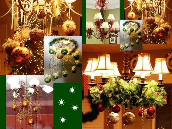 Новогодние украшения, хвоя