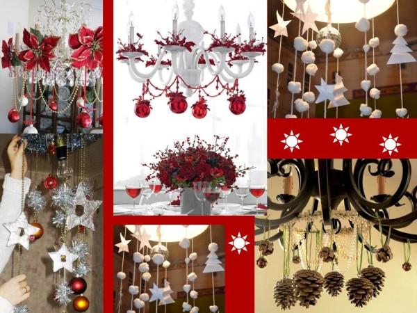 Новогодние украшения, шишки, снежки