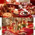 Украшение новогоднего стола, красивая сервировка
