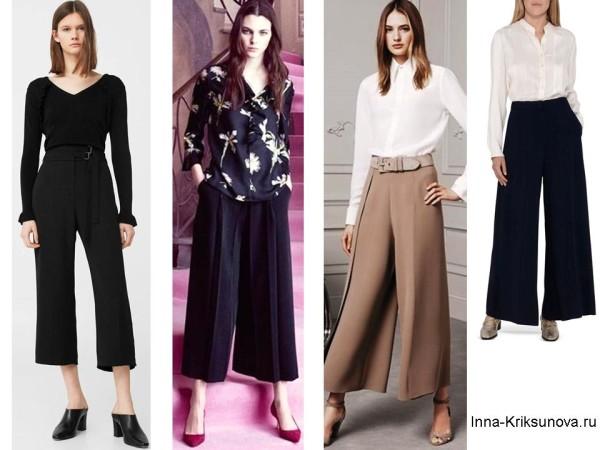 Модные брюки 2017, кюлоты