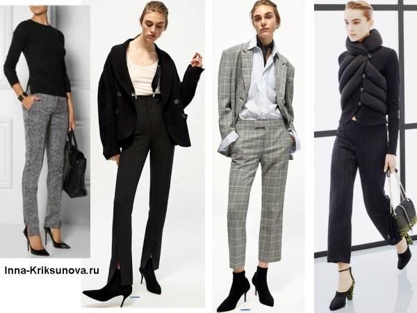 Модные брюки 2017, узкие