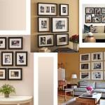 Фотографии в интерьере, белые паспарту