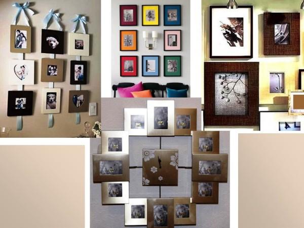 Фотографии в интерьере, широкие рамки