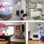 Интерьер, дешево и стильно, цветная стена