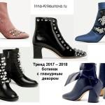 Женская обувь 2017 - 2018, гламурный декор