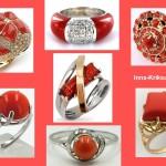 Украшения из кораллов, кольца, перстни